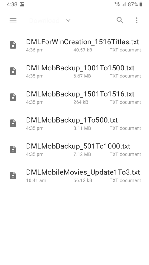DMLMobile File Picker root directory