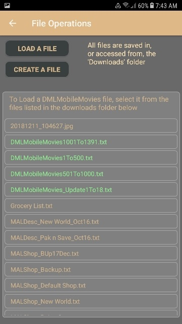 DMLMobile Load File View