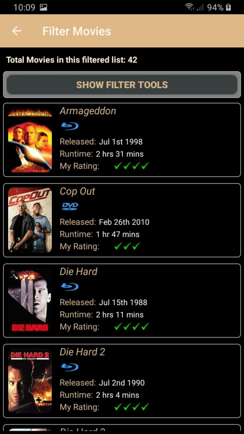DMLMobile Filter result for movies with Bruce Willis