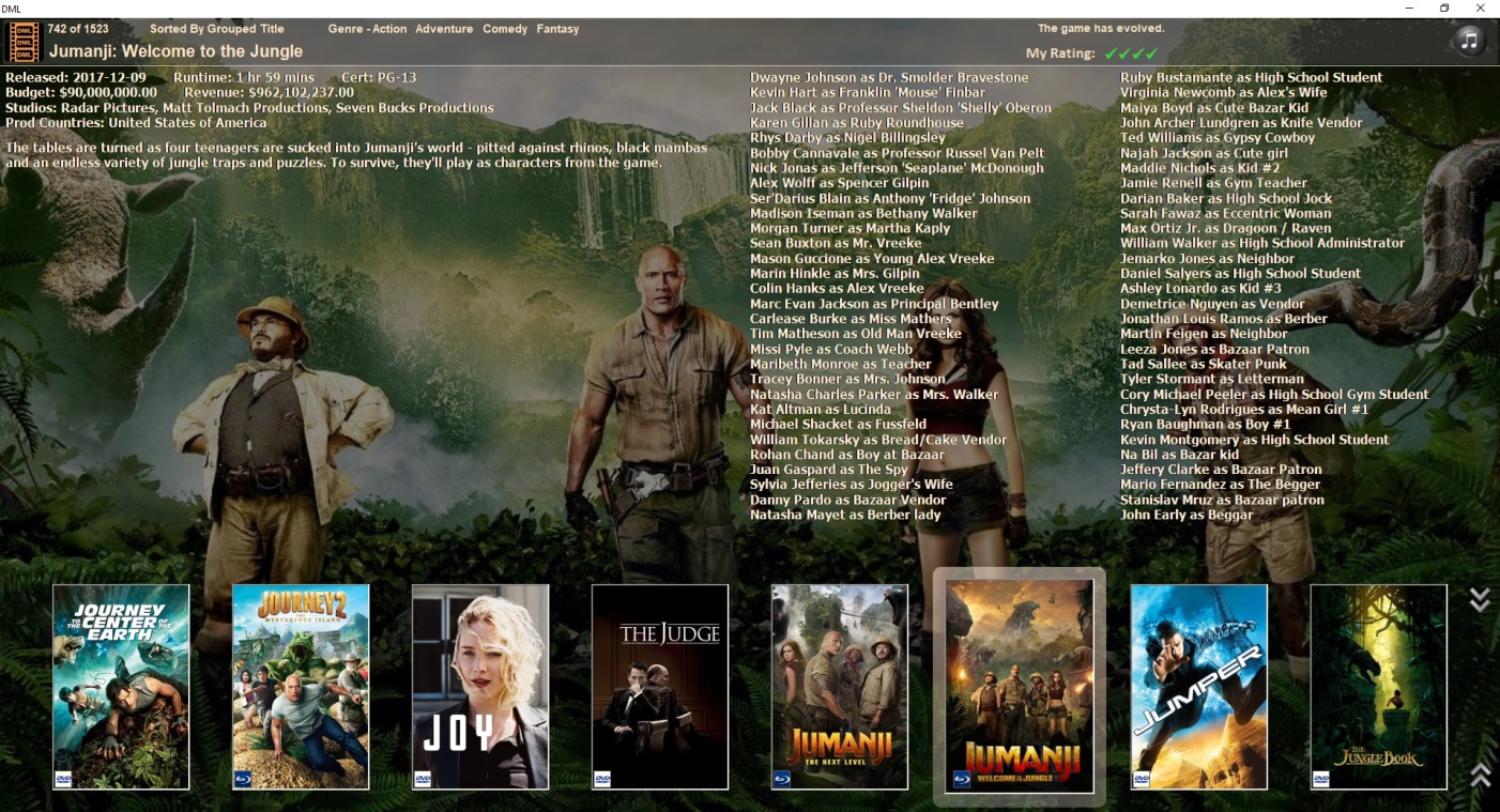 DVD Movie Database Displaying One Row